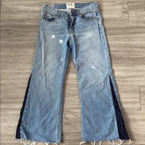 Revice Denim flare crop jeans